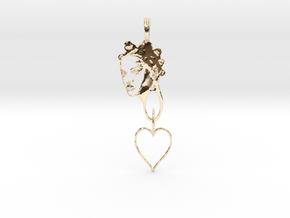 RIHANNA PENDANT - RIHANNA FAN PENDANT - Exclusive  in 14K Gold