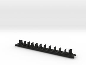 Inneneinrichtung Transalpin Wagen 1 Scale N in Black Natural Versatile Plastic