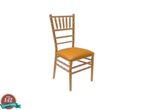 Miniature Chiavari Chair - Giuseppe Gaetano in White Natural Versatile Plastic: 1:12