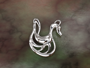 Swan in Polished Silver