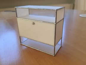 Sideboard/Storage 1:12 in White Processed Versatile Plastic