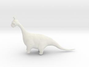ANGUS THE DIPLODOCUS in White Natural Versatile Plastic
