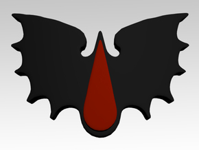 Blood Drop & Bat Wings Shoulder Icons x50 in Smooth Fine Detail Plastic