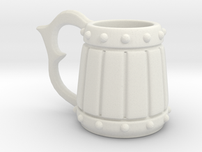 Mini Beer Tankard in White Natural Versatile Plastic