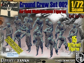 1/72 German Ground Crew Set002 in Smooth Fine Detail Plastic