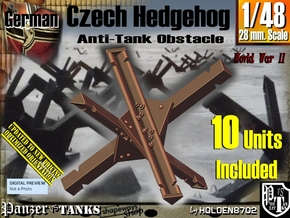 1/48 Anti-Tank Hedgehog set001 in White Strong & Flexible