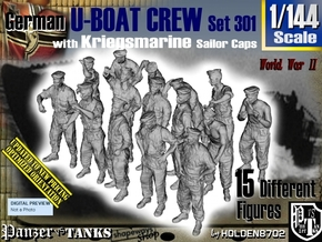 1/144 German U-Boot Crew Set301 in Smooth Fine Detail Plastic
