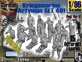 1/96 Kriegsmarine Artyman Set401 in Smooth Fine Detail Plastic