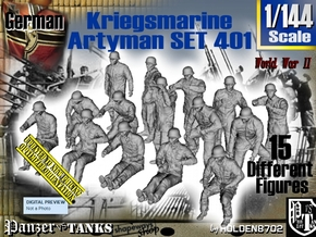 1/144 Kriegsmarine Artyman Set401 in Smooth Fine Detail Plastic