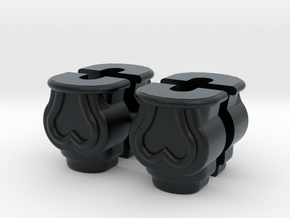 1:12 Window rod holder, batch of 4 in Black Hi-Def Acrylate