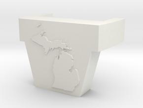 Time Traveler Michigan Chest Piece in White Natural Versatile Plastic