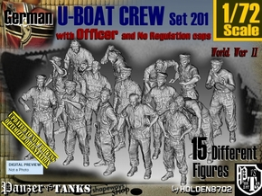 1/72 German U-Boot Crew Set201 in Frosted Ultra Detail