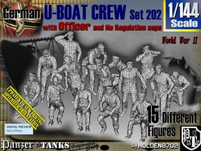 1/144 German U-Boot Crew Set202 in Smooth Fine Detail Plastic