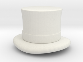 Top Hat (1-48) in White Premium Versatile Plastic