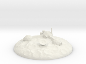 The Asteroid Mining Base! in White Natural Versatile Plastic