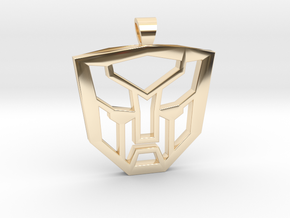 Autobots [pendant] in 14k Gold Plated Brass