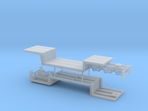 1/64th Double Drop Flatbed B Train trailers in Smooth Fine Detail Plastic