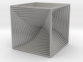 0045 Cube Line Design (3.25 cm) #001 in Aluminum