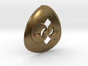 Alien Roswell Rock or Crop Circle Geometry in Natural Bronze: Medium