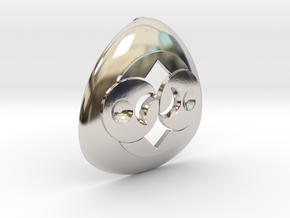 Alien Roswell Rock or Crop Circle Geometry in Platinum: Medium