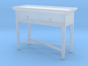 Miniature Console Table 2 Drawers - Dantone Home in Smooth Fine Detail Plastic: 1:12