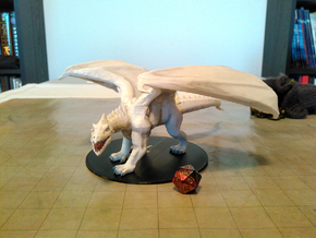 Adult White Dragon in White Natural Versatile Plastic