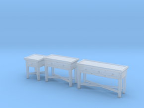 Miniature Dantone Home Console Tables Collections in Smooth Fine Detail Plastic: 1:24