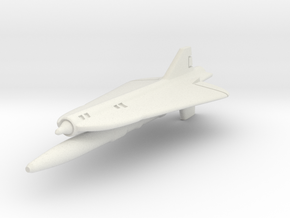Lockheed D-21B 1/285 6mm in White Natural Versatile Plastic