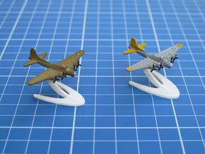 B-17 Flying Fortress in White Natural Versatile Plastic