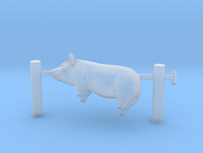 G scale pig on a spit in Smooth Fine Detail Plastic