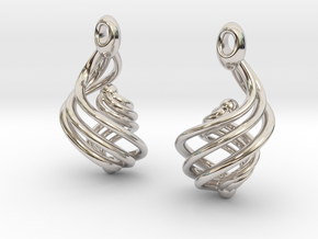 Passionate Fire Earrings in Platinum