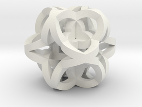 Celtic Knot Cube in White Natural Versatile Plastic
