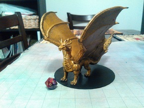 Adult Brass Dragon in Yellow Strong & Flexible Polished