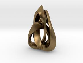 Valknut Triangle in Natural Bronze