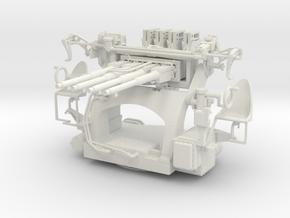 "Best Cost 1/32 1.1""/75 (28 mm) Mark 1 Quad Mount  in White Natural Versatile Plastic"