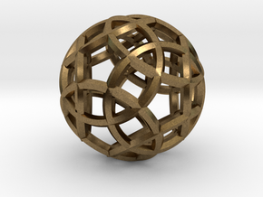 Rhombicosidodecahedron Pendant in Natural Bronze