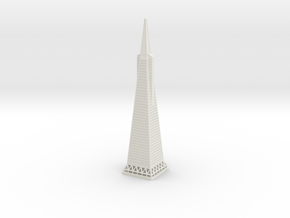 Transamerica Pyramid (1:2000) in White Natural Versatile Plastic