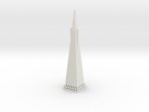 Transamerica Pyramid (1:2000) in White Natural Versatile Plastic