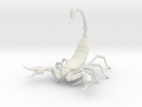 Scorpion in White Natural Versatile Plastic