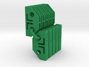 Tile links Speed Circuit Test01 in Green Processed Versatile Plastic