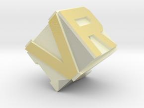 VRH logo in Glossy Full Color Sandstone