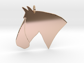 the Rosie Pendant - Precious Metals in 14k Rose Gold Plated Brass