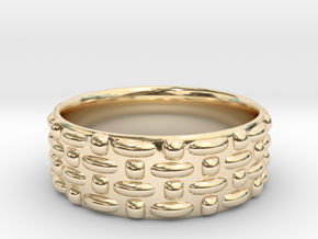 Abstract Weave Pattern Ring in 14K Yellow Gold: 6 / 51.5