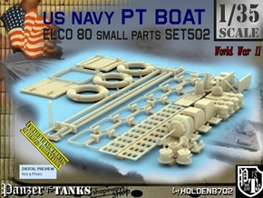 1/35 PT Boat Small Parts Set502 in Smooth Fine Detail Plastic