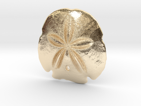 Arrowhead Sand Dollar Pendant in 14k Gold Plated Brass