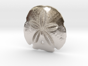 Arrowhead Sand Dollar Pendant in Rhodium Plated Brass