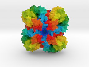 N1 Neuraminidase in Full Color Sandstone