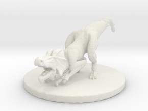 Jaggi (#3) (Medium Beast) in White Natural Versatile Plastic