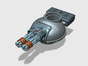 Phobos Battle Tank: Gatcannon Turret (Convertible) in Smooth Fine Detail Plastic