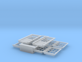 HO Scale windows and 7 foot standard doors in Smoothest Fine Detail Plastic